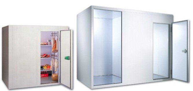 Modular cold rooms for storage of fresh pasta
