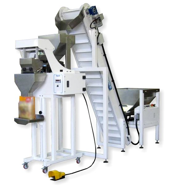Semi-automatic vertical dosing packaging machine for dry pasta