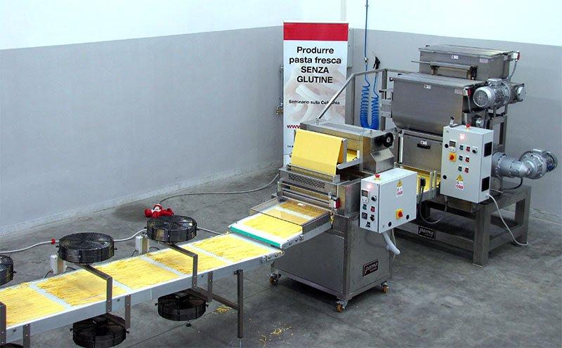 Tagliatelle production long pasta lines