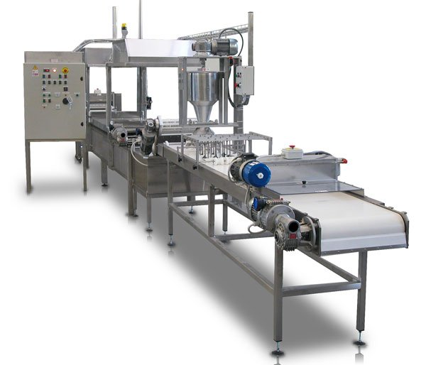Machine for the production of ready meals lasagna and cannelloni