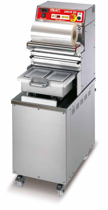Semiautomatic vacuum Thermosealing Machine with Protective Atmosphere mod. Unica 20