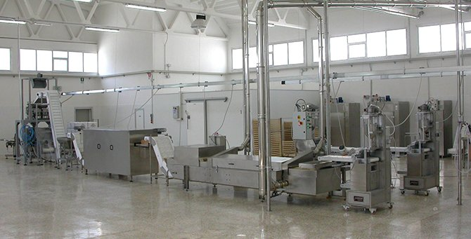Pre dryers coolers for fresh pasta pasteurized