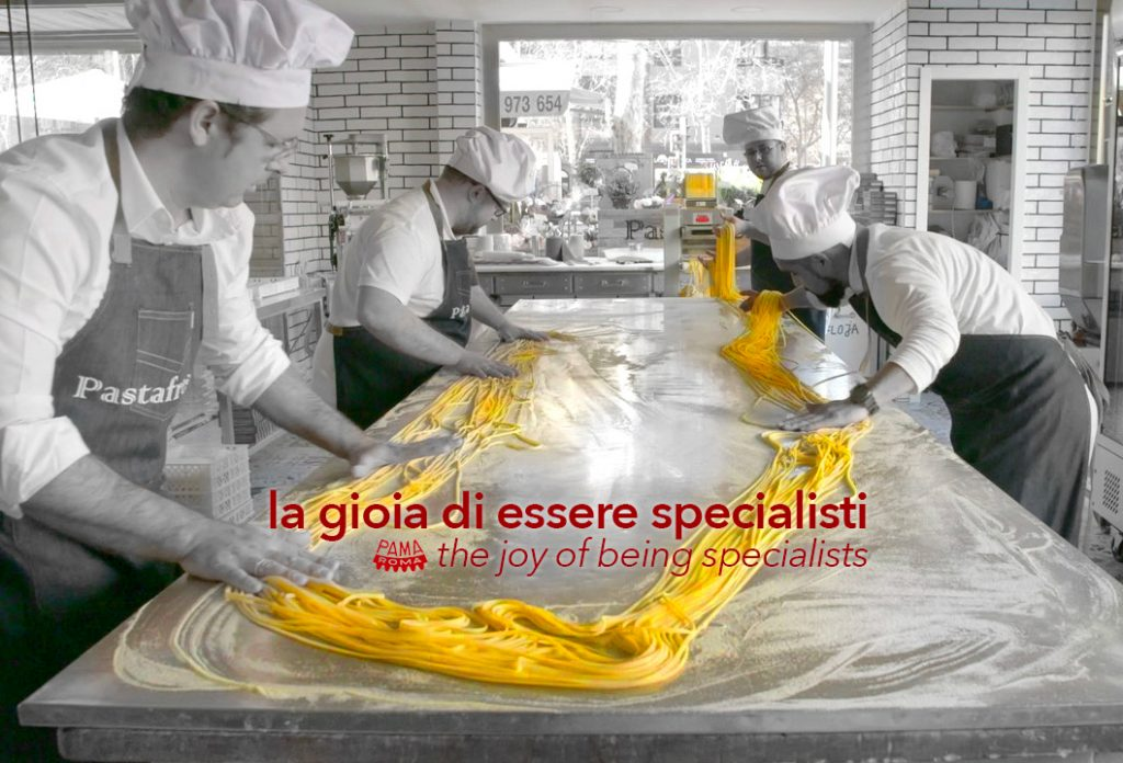 Machinery for the production of fresh and dry pasta