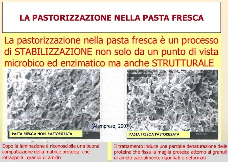 Pasteurizers for fresh pasta and stuffed