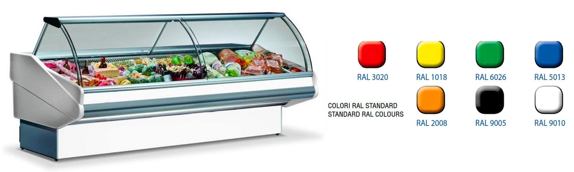 Display refrigerators for fresh fresh pasta and gastronomy