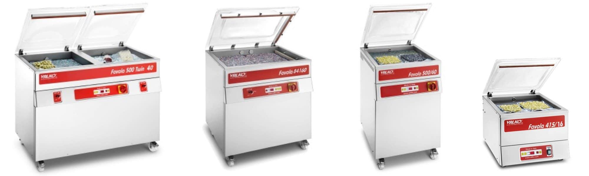 Chamber vacuum packaging machines for Pasta