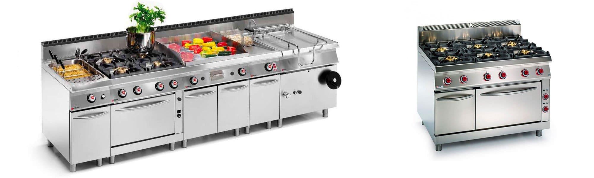 Cucine elettriche e a gas per pastifici