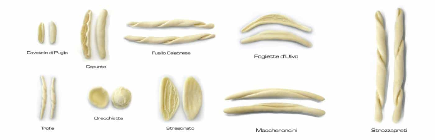 Orecchiette Trofie machines for typical shapes of Pasta