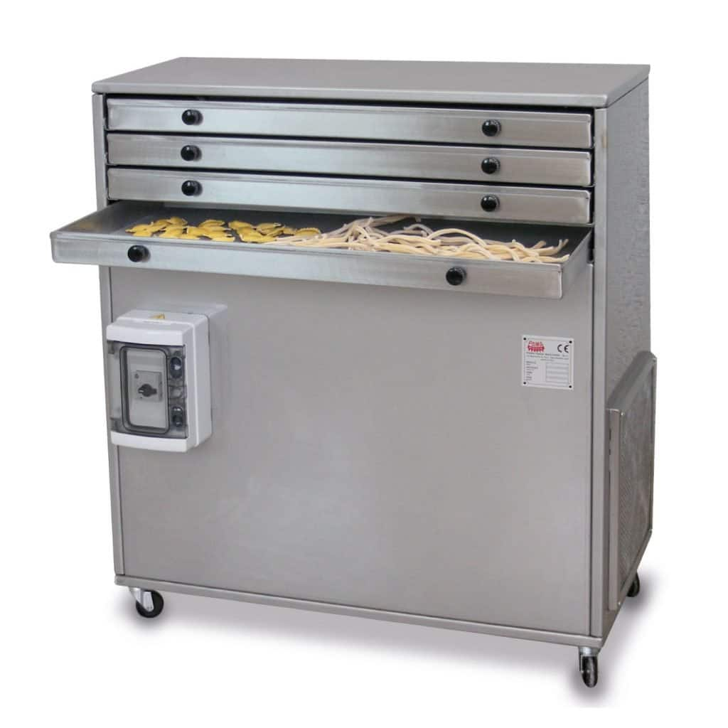 Dryers and sterilizer for pasta factory